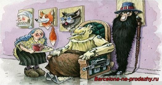 старый буратино карикатура