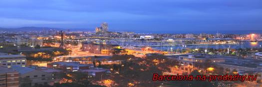 фотография ночная Барселона
