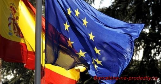 флаги испании и евросоюза
